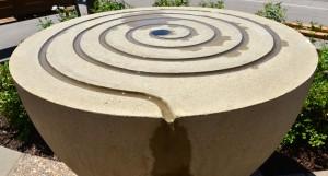 westgate fountain spiral detail