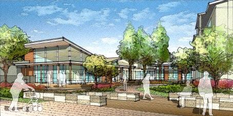 Wellness Center  and Redwoods Plaza