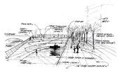Plaza Pen Sketch